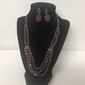 Beautiful Ruby Red Necklace